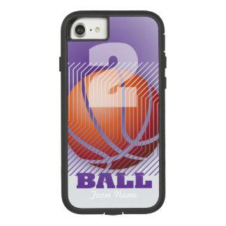 Funda Tough Extreme De Case-Mate Para iPhone 8/7 BBall #2 en púrpura