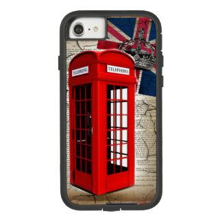 Funda Tough Extreme De Case-Mate Para iPhone 8/7 cabina de teléfono roja de la corona del jubileo