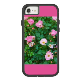 Funda Tough Extreme De Case-Mate Para iPhone 8/7 Caja rosada de la flor de X-treme Iphone 7 duros