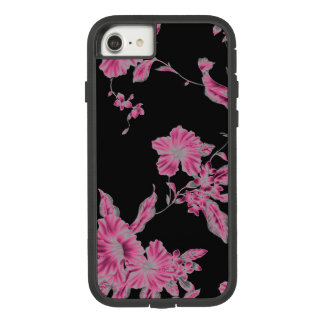 Funda Tough Extreme De Case-Mate Para iPhone 8/7 Caja rosada tropical de la flor