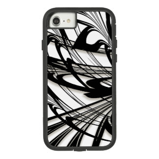 Funda Tough Extreme De Case-Mate Para iPhone 8/7 Cañada blanco y negro del helecho