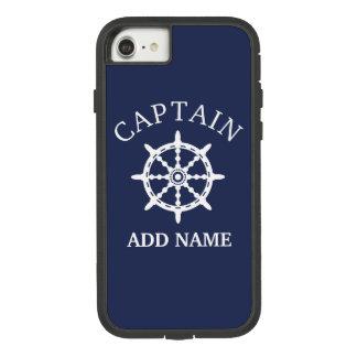 Funda Tough Extreme De Case-Mate Para iPhone 8/7 Capitán del barco (personalice a Name de capitán)