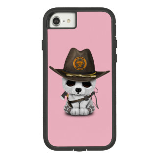 Funda Tough Extreme De Case-Mate Para iPhone 8/7 Cazador del zombi del oso polar del bebé