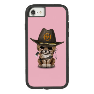 Funda Tough Extreme De Case-Mate Para iPhone 8/7 Cazador lindo del zombi de Cub del guepardo