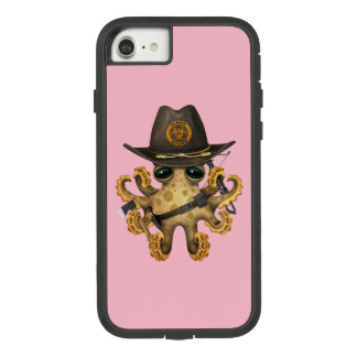 Funda Tough Extreme De Case-Mate Para iPhone 8/7 Cazador lindo del zombi del pulpo del bebé