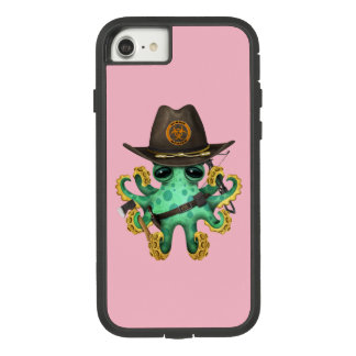 Funda Tough Extreme De Case-Mate Para iPhone 8/7 Cazador verde del zombi del pulpo del bebé