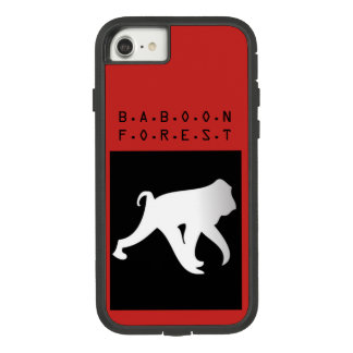 Funda Tough Extreme De Case-Mate Para iPhone 8/7 Cubierta del teléfono del bosque del babuino