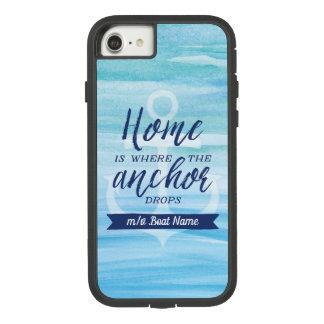 Funda Tough Extreme De Case-Mate Para iPhone 8/7 El hogar es adonde el ancla cae (personalizado)