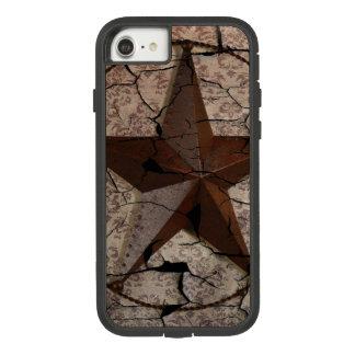 Funda Tough Extreme De Case-Mate Para iPhone 8/7 Estrella de Tejas primitiva rústica del país