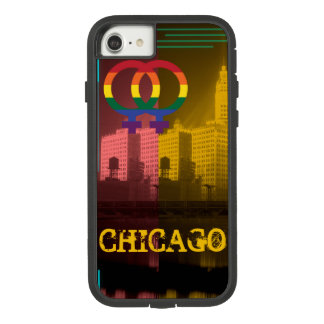 Funda Tough Extreme De Case-Mate Para iPhone 8/7 Gay colorido del orgullo del interés lesbiano de