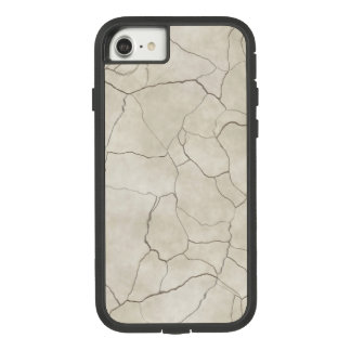 Funda Tough Extreme De Case-Mate Para iPhone 8/7 Grietas en fondo texturizado beige
