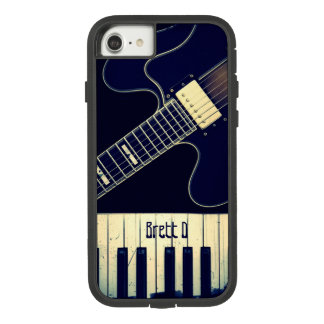 Funda Tough Extreme De Case-Mate Para iPhone 8/7 Guitarra personalizada del teclado de piano del
