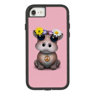 Funda Tough Extreme De Case-Mate Para iPhone 8/7 Hippie lindo del hipopótamo del bebé