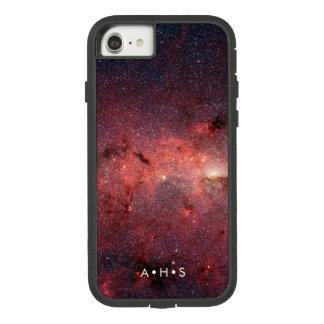 Funda Tough Extreme De Case-Mate Para iPhone 8/7 Iniciales personalizadas nebulosa roja