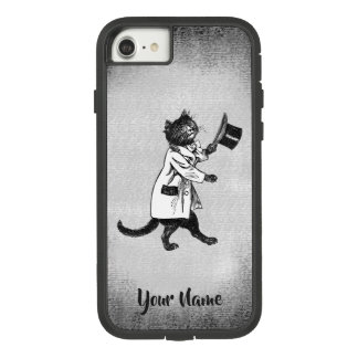 Funda Tough Extreme De Case-Mate Para iPhone 8/7 iPhone blanco de la cadera del gato del negro
