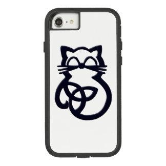 Funda Tough Extreme De Case-Mate Para iPhone 8/7 iPhone céltico del gato del nudo negro de la