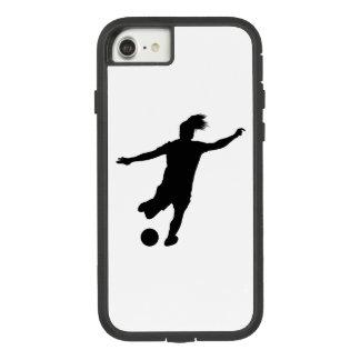 Funda Tough Extreme De Case-Mate Para iPhone 8/7 Jugador de fútbol de la mujer