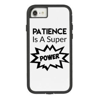 Funda Tough Extreme De Case-Mate Para iPhone 8/7 La paciencia es caja del teléfono celular del