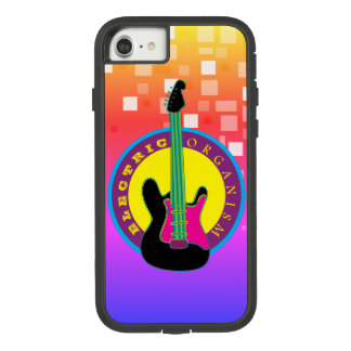 Funda Tough Extreme De Case-Mate Para iPhone 8/7 Los colores de neón de la música rock de la