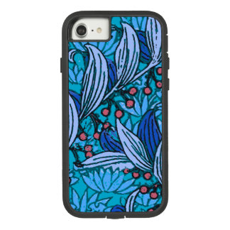 Funda Tough Extreme De Case-Mate Para iPhone 8/7 Moderno floral azul bohemio