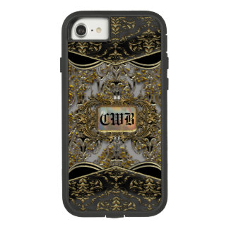 Funda Tough Extreme De Case-Mate Para iPhone 8/7 Monograma hermoso barroco del empeine
