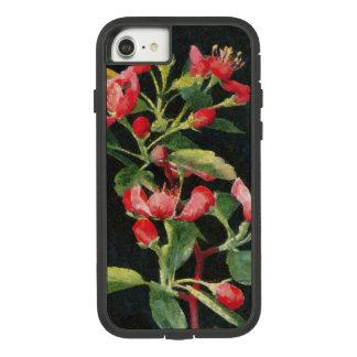 Funda Tough Extreme De Case-Mate Para iPhone 8/7 Negro de Crabapple de la pradera y bonito floral