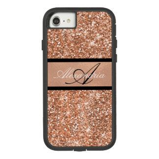 Funda Tough Extreme De Case-Mate Para iPhone 8/7 Oro color de rosa atractivo y chispa negra