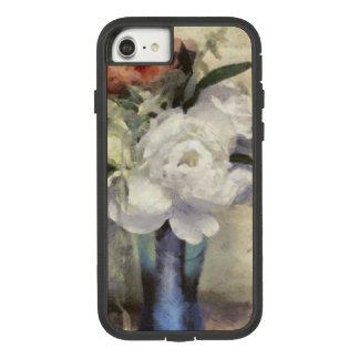 Funda Tough Extreme De Case-Mate Para iPhone 8/7 Peony azul nupcial pintado del florero del ramo
