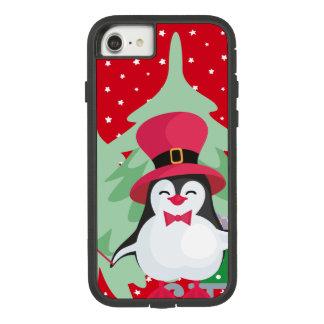 Funda Tough Extreme De Case-Mate Para iPhone 8/7 Pingüino festivo con el trineo - rojo