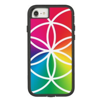Funda Tough Extreme De Case-Mate Para iPhone 8/7 Semilla del arco iris de Chakras del símbolo de la