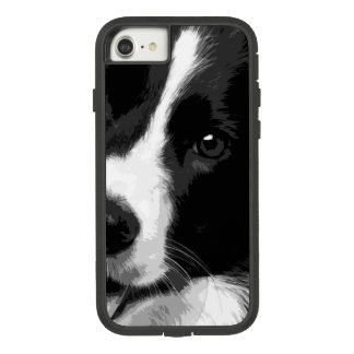 Funda Tough Extreme De Case-Mate Para iPhone 8/7 Un border collie blanco y negro