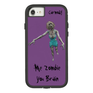 Funda Tough Extreme De Case-Mate Para iPhone 8/7 Yo zombi - usted cerebro