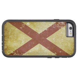 Funda Tough Xtreme iPhone 6 Bandera patriótica gastada del estado de Alabama