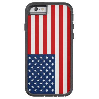 Funda Tough Xtreme iPhone 6 Caja dura del teléfono de la bandera americana