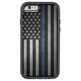 Funda Tough Xtreme iPhone 6 caja fina del teléfono celular de Blue Line del