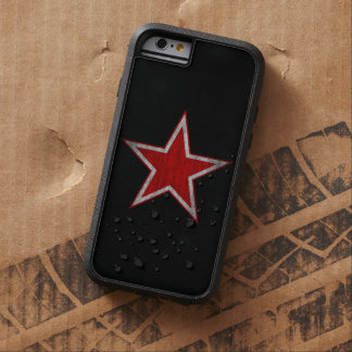 Funda Tough Xtreme iPhone 6 Caja roja del iphone de la estrella de Rusia
