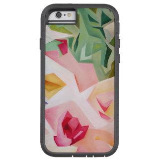 Funda Tough Xtreme iPhone 6 Caso floral abstracto rosado del iPhone 6