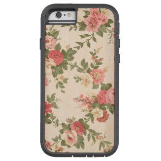 Funda Tough Xtreme iPhone 6 caso rosado del estampado de flores