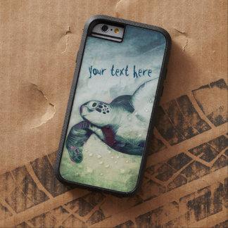 Funda Tough Xtreme iPhone 6 iPhone de las tortugas de mar verde que vuela el |