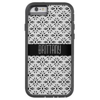 Funda Tough Xtreme iPhone 6 Modelo blanco y negro del estilo del cordón