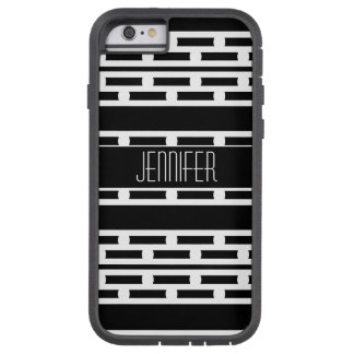 Funda Tough Xtreme iPhone 6 Modelo rayado abstracto blanco y negro