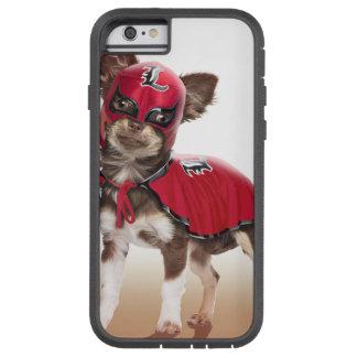 Funda Tough Xtreme iPhone 6 Perro del libre de Lucha, chihuahua divertida,