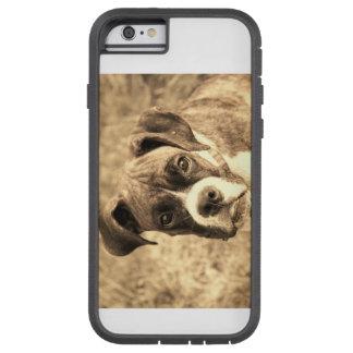 Funda Tough Xtreme iPhone 6 Perro feliz del boxeador
