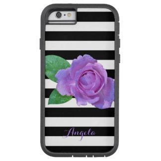 Funda Tough Xtreme iPhone 6 Rayas color de rosa, negras, blancas púrpuras