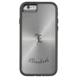 Funda Tough Xtreme iPhone 6 Textura pulida circular del metal, personalizada