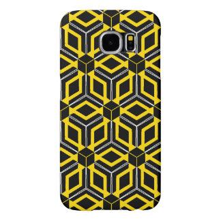 Funda Tough Xtreme Para iPhone 6 Caja geométrica negra y amarilla del modelo