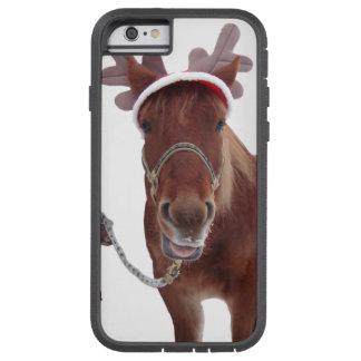 Funda Tough Xtreme Para iPhone 6 Ciervos del caballo - caballo del navidad -