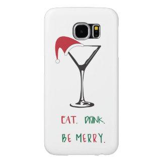 Funda Tough Xtreme Para iPhone 6 Coma. Bebida. Sea feliz. Caja del teléfono celular
