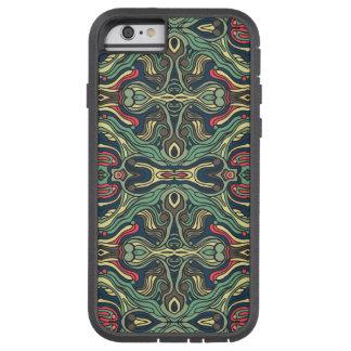 Funda Tough Xtreme Para iPhone 6 Diseño rizado dibujado mano colorida abstracta del