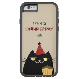 Funda Tough Xtreme Para iPhone 6 Divertidos negros del gato refrescan Unbirthday
